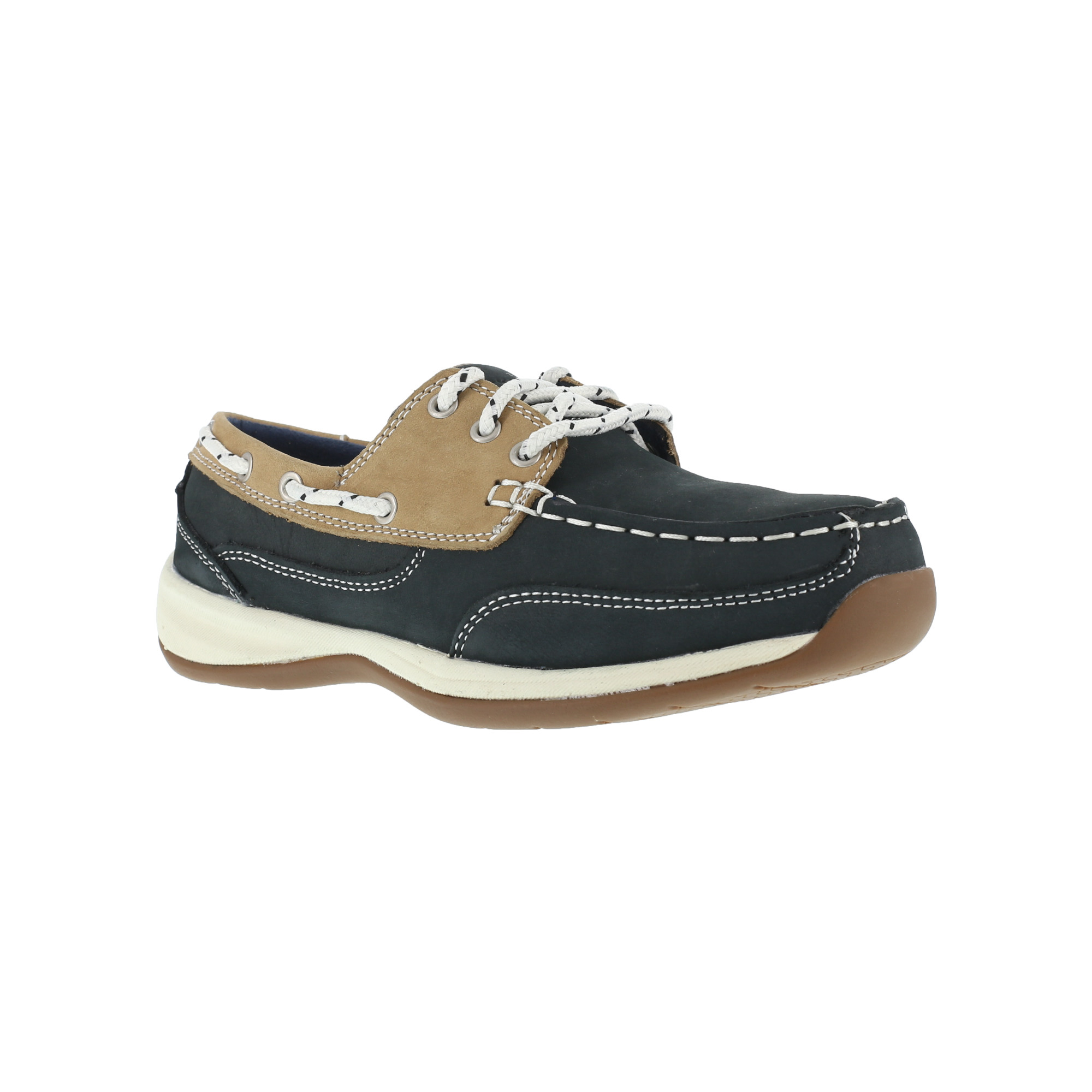 rockport s navy blue boat shoe steel toe rk670