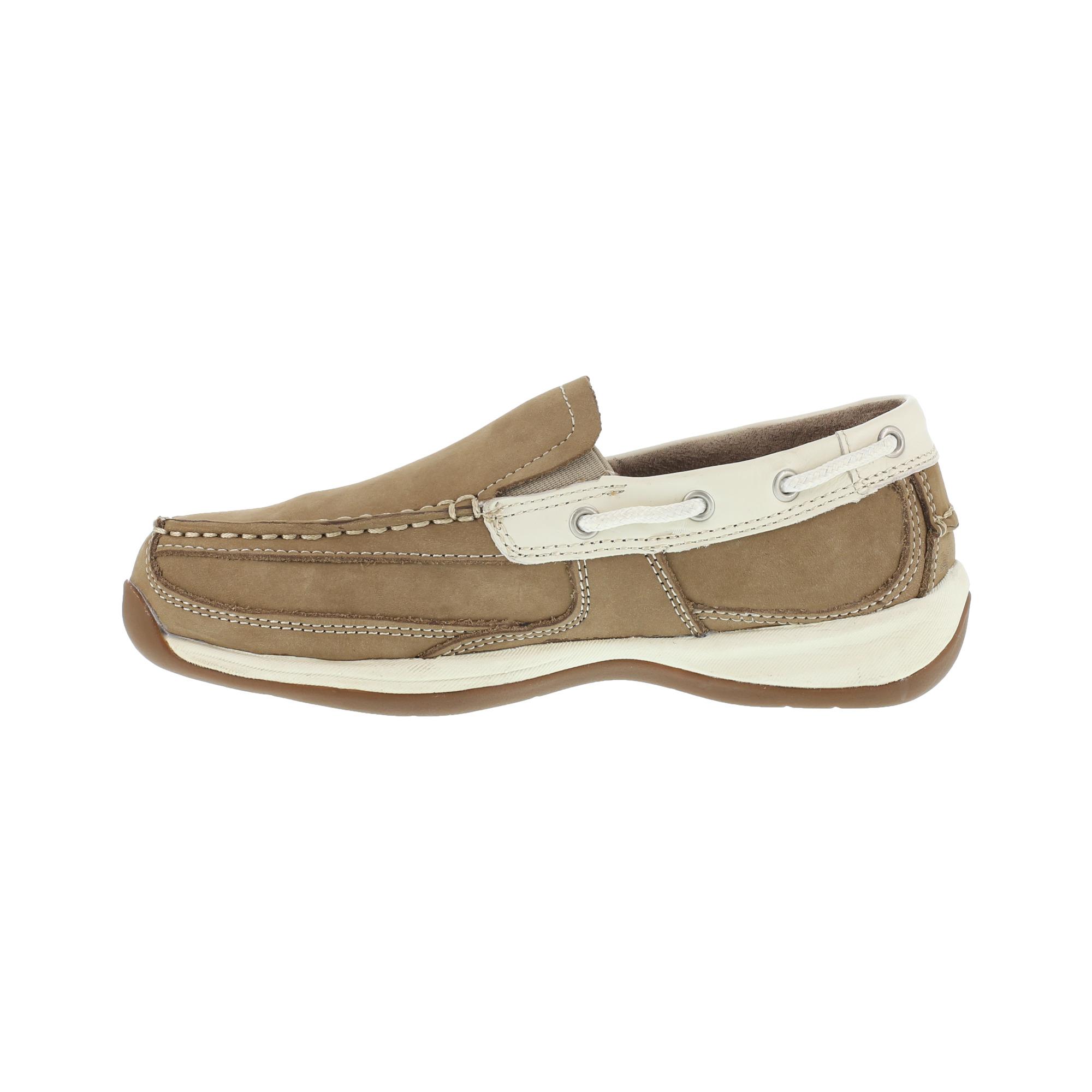 Rockport Women S Tan Slip On Boat Shoes Steel Toe Rk673